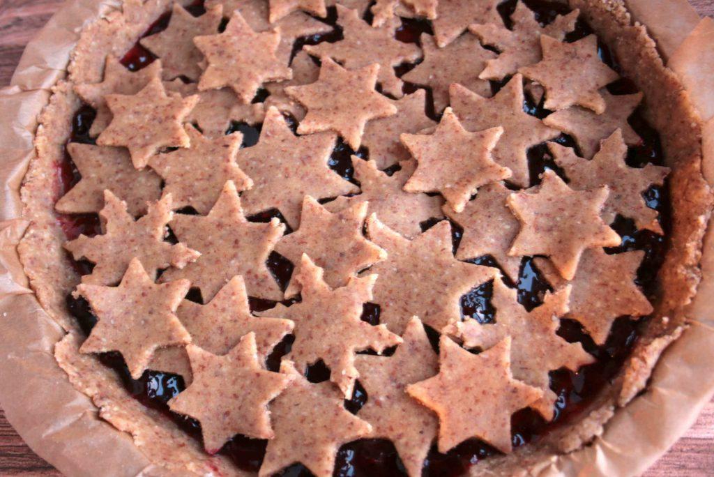 Linzer Torte Mandeln Mürbeteig Sterne