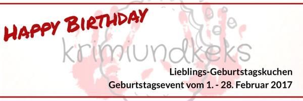 krimiundkeks feiert Blogparade Geburtstagskuchen Bloggeburtstag