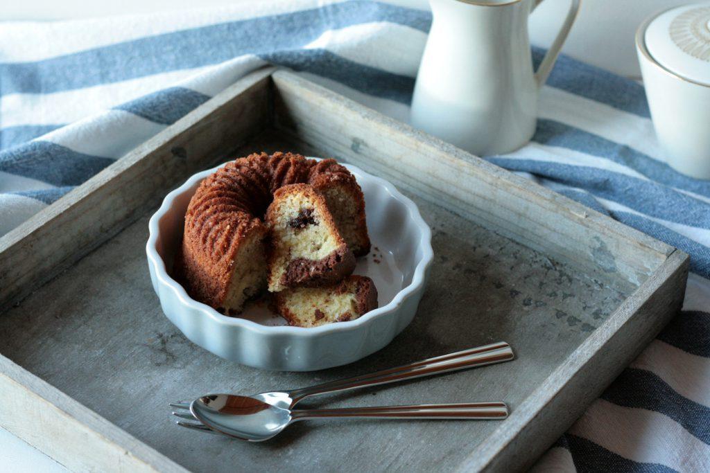 Minigugel Rührkuchen Gugelhupf Schokolade Mandeln Kakao krimiundkeks