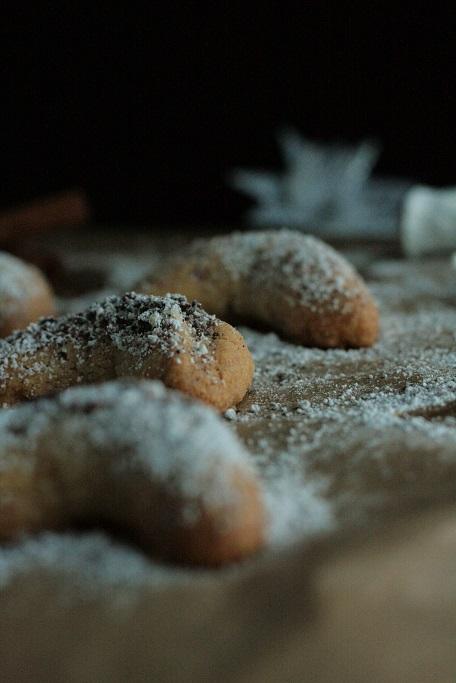 Kipferl Gewürz-Kipferl Zimt Mürbeteig Weihnachtsplätzchen Plätzchen krimiundkeks