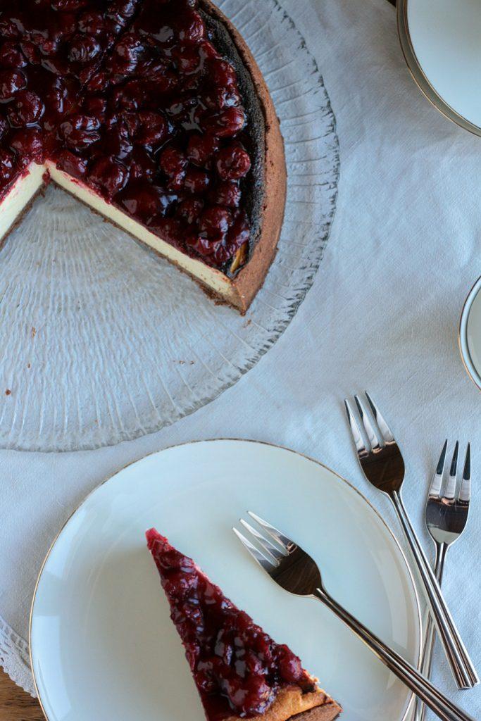 Schwarzwälder-Kirsch-Torte Käsekuchen Mürbeteig Kirschen Schwarzwälder Quark krimiundkeks