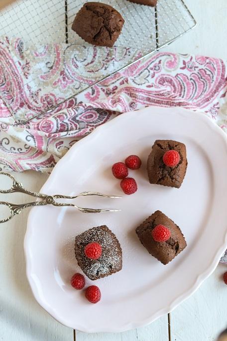 Schokoküchlein Schokokuchen Schokoladenkuchen Nugat flüssiger Kern Schokolade Rührteig Muffins Rührkuchen krimiundkeks