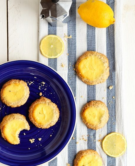 Käsekuchen-Kekse Kekse Käsekuchen Zitrone Haferflocken Rührteig Cookies Cheesecake Frischkäse Rezept krimiundkeks