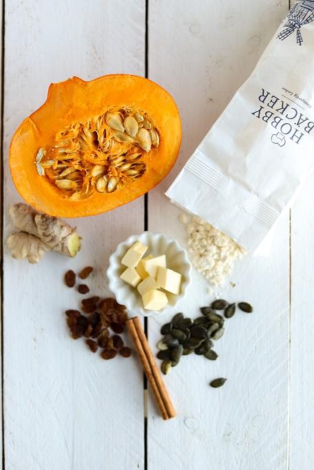 Kürbis-Kekse, Kekse, Cookies, Bakeday, Zimt, Ingwer, Hokkaido, Rosinen, Rezept, pumpkin, krimiundkeks