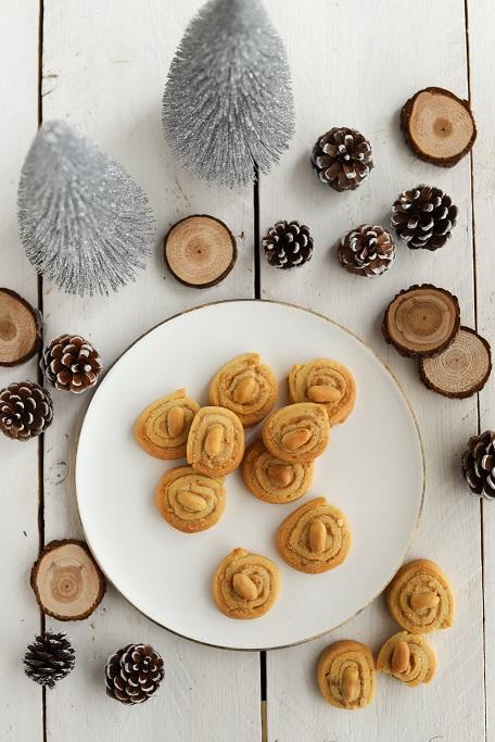 Weihnachtsbäckerei Erdnuss Plätzchen Erdnuss-Schnecken Peanutbutter Plätzchenbacken Weihnachten Mürbeteig Erdnussbutter salzigsüß krimiundkeks
