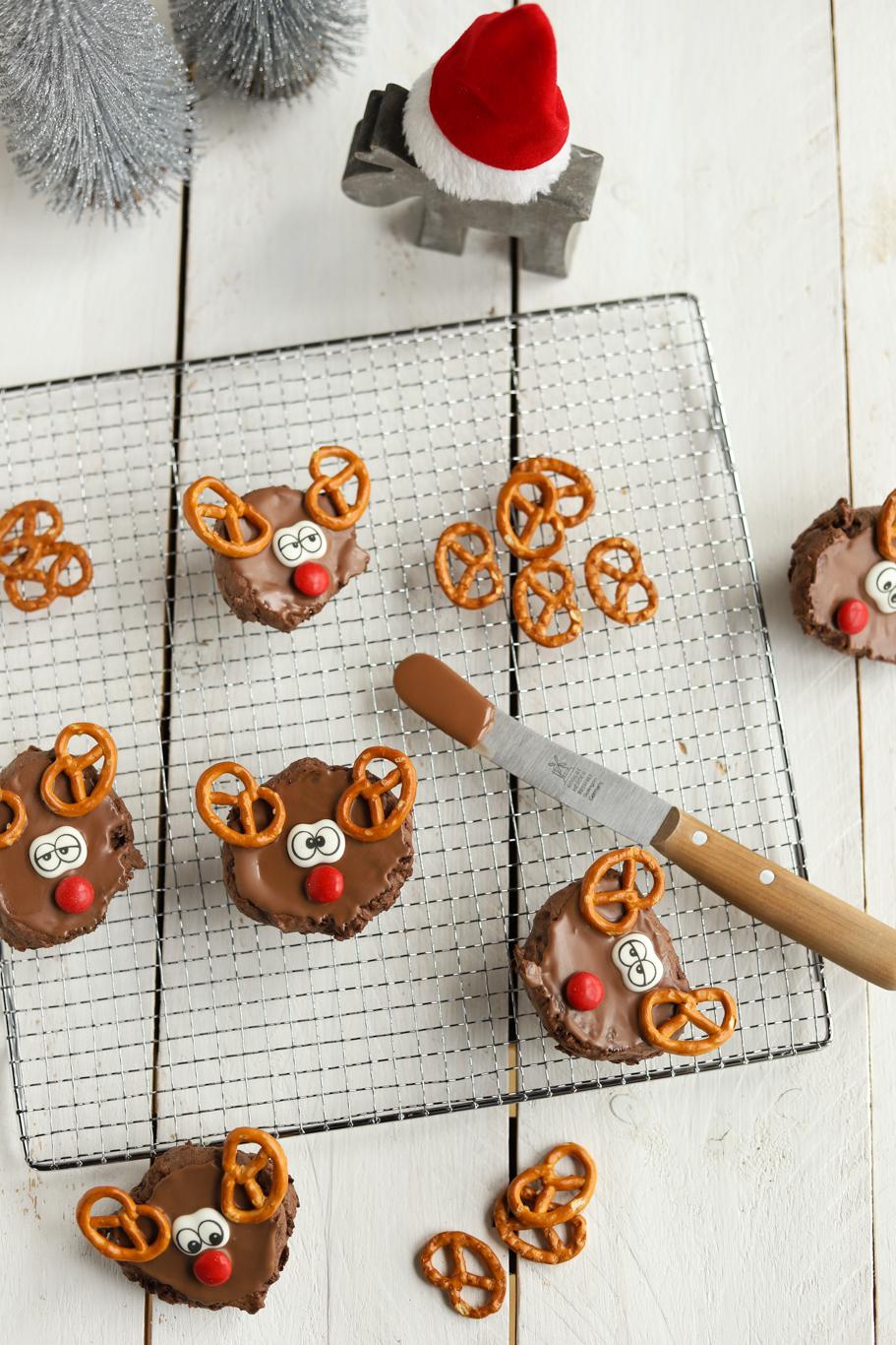 Rotweinkuchen Amerikaner Rentiere Weihnachten Salzbrezel Schokoladenkuchen Schokolade Adventskalender krimiundkeks