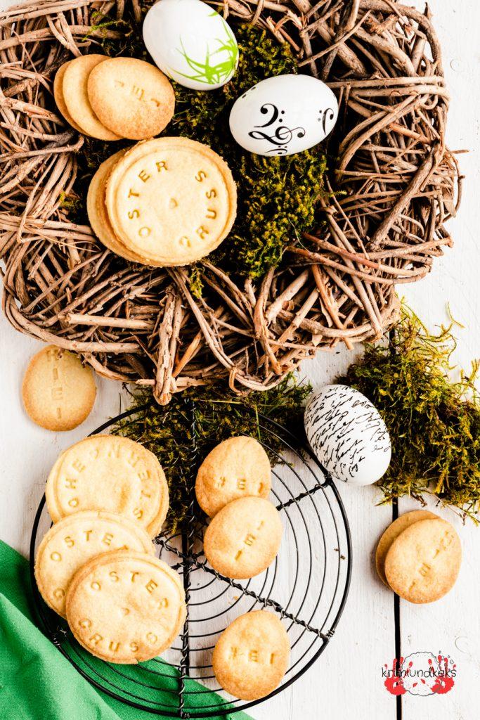Ostern Osterkekse Mürbeteig Keksstempel Osternest Osterkuchen Easter krimiundkeks