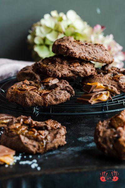 Salzkaramell-Schoko-Cookies Cookies Salzkaramell Schokolade Kekse Karamell krimiundkeks