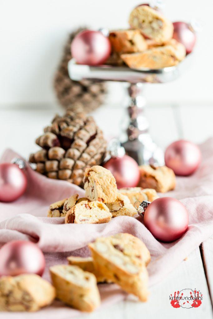 Tonka-Cantuccini Weihnachten Plätzchen Cantuccini Tonkabohne Mandeln Weihnachtsbäckerei krimiundkeks