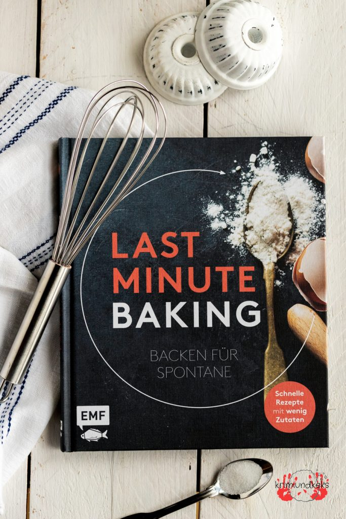 Backbuch emf Last Minute Baking Backrezepte backen Rezension krimiundkeks