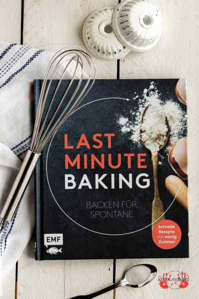 Backbuch emf Last Minute Baking Backrezepte backen Rezension krimiundkeks