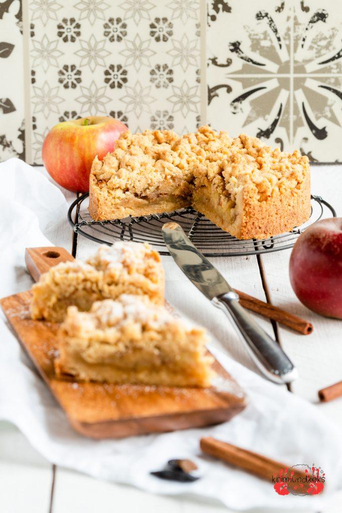 Apfelkuchen Streusel Tonkabohne Tonka Gewürze Zimt Äpfel Gewinnspiel krimiundkeks