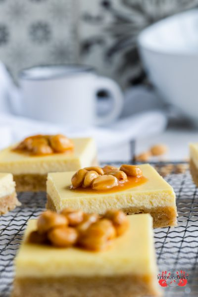 Cheesecake Salzkaramell Erdnüsse Erdnuss-Salzkaramell Karamell Mürbeteig Käsekuchen krimiundkeks