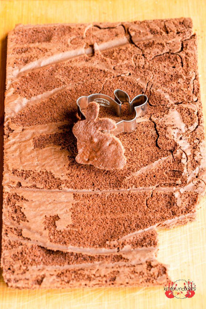 Osterkuchen Hasen-Rührkuchen Backen für Ostern Rührkuchen Osterhase Eierlikör krimiundkeks