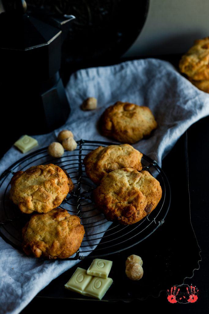 Cookies Kekse Macadamia-Schoko-Cookies salzig-süß Macadamia Nüsse weiße Schokolade krimiundkeks