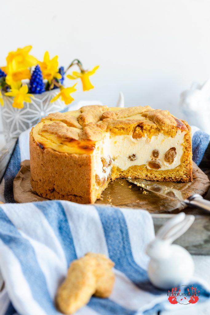 Rübli-Zupfkuchen Backen für Ostern Osterkuchen Käsekuchen Möhrenkuchen Möhren Kekse krimiundkeks