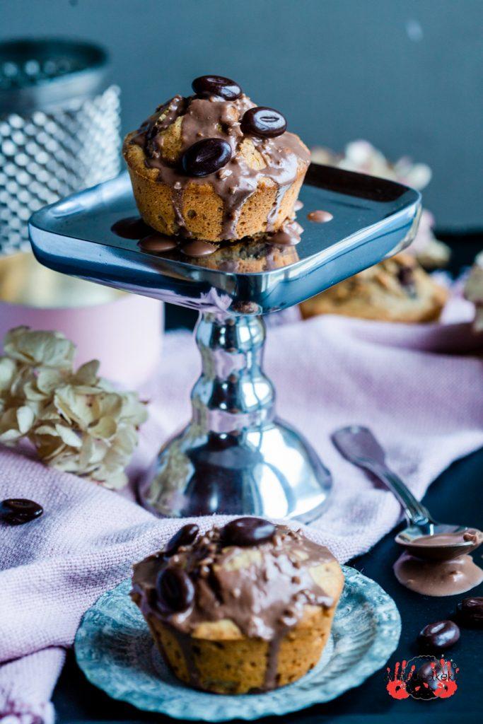 Schoko-Kaffee-Muffins Muffins Kaffee Schokolade Schoki Koffein Tag des Kaffees Rührteig Mandeln krimiundkeks