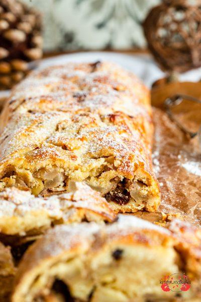 Südtiroler Apfelstrudel Apfelstrudel Apfelkuchen Mürbeteig Herbst Südtirol Rosinen krimiundkeks