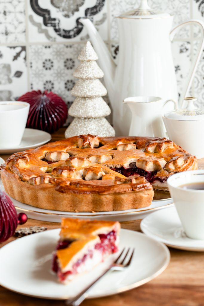 Vlaai Speukulatius Weihnachtsrezept MinusL laktosefrei Hefeteig Kirschen krimiundkeks