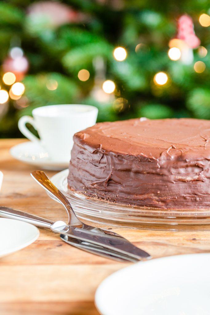 Prinzregententorte Buttercreme Familienrezept Torte Schokolade Rührteig Rezept krimiundkeks