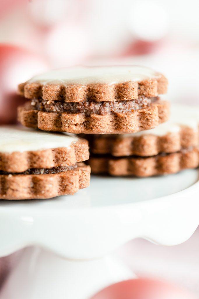 gefüllte Kakao-plätzchen Weihnachtsbäckerei Kakao Kaffee Doppeldecker Familienrezept krimiundkeks Weihnachten Kaffee