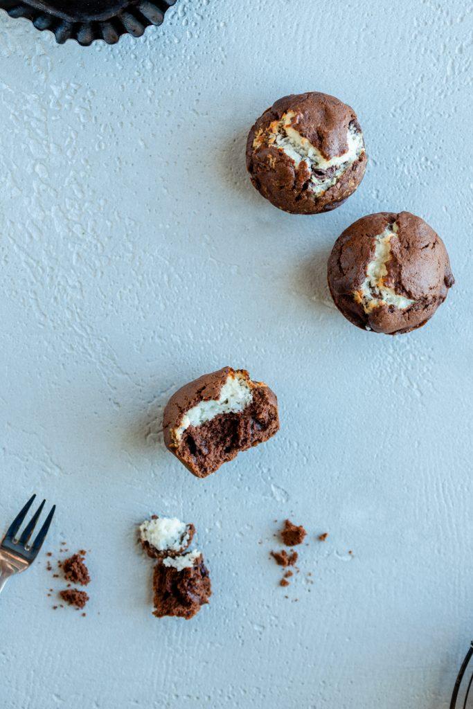 Choco-Coco-Muffins Muffins Kokos Schoko Schokokuchen Schokolade Rührteig Kokosflocken krimiundkeks