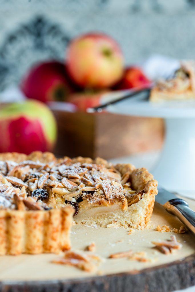 Apfeltarte Tarte Äpfel Mandeln Herbst Mürbeteig